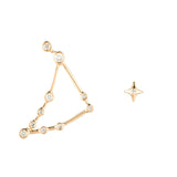 Zodiacs 14K & Diamond Capricorn + Earth Stud Set