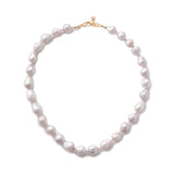 Plaza White Baroque Pearl Necklace Base