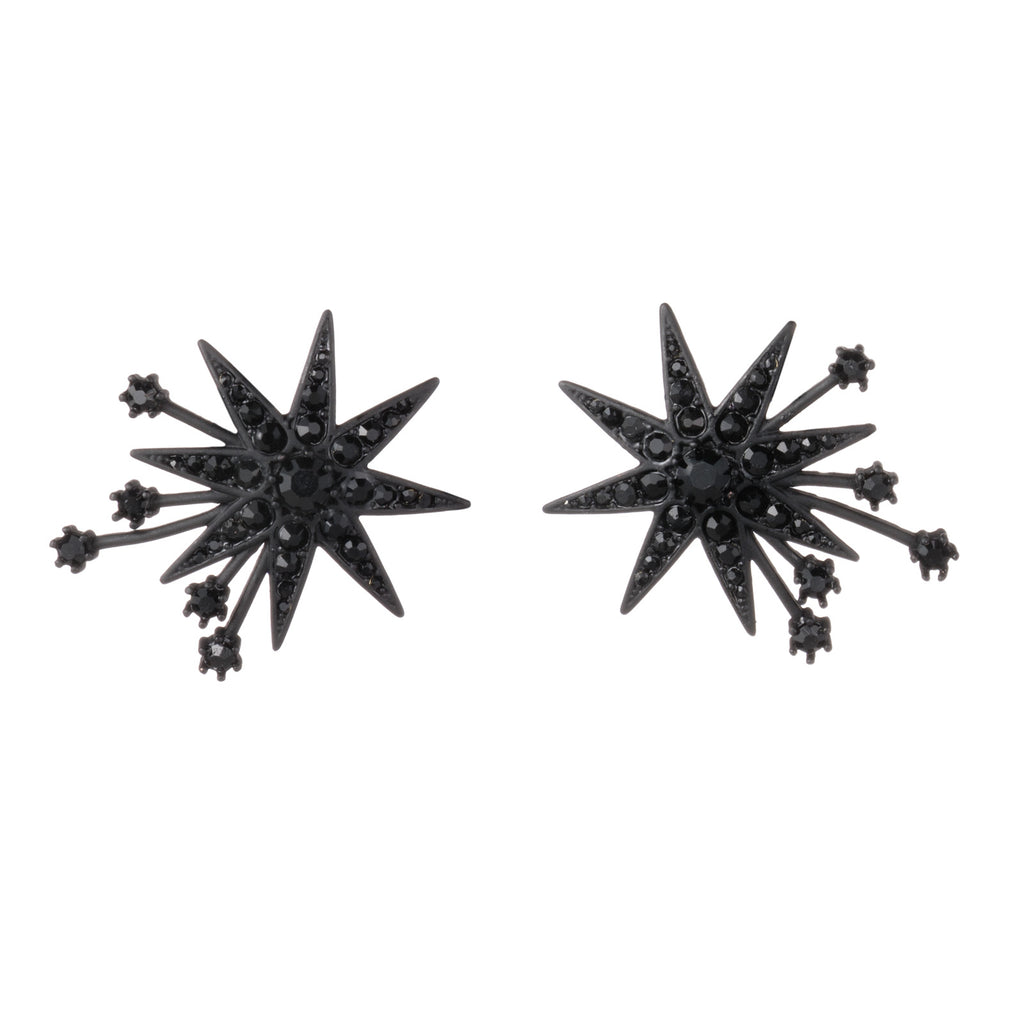 Nova Stud Earring - Black
