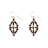 Black And Gold Proxima Wire Earring