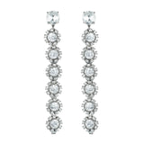 Beam Drop Earrings - Clear