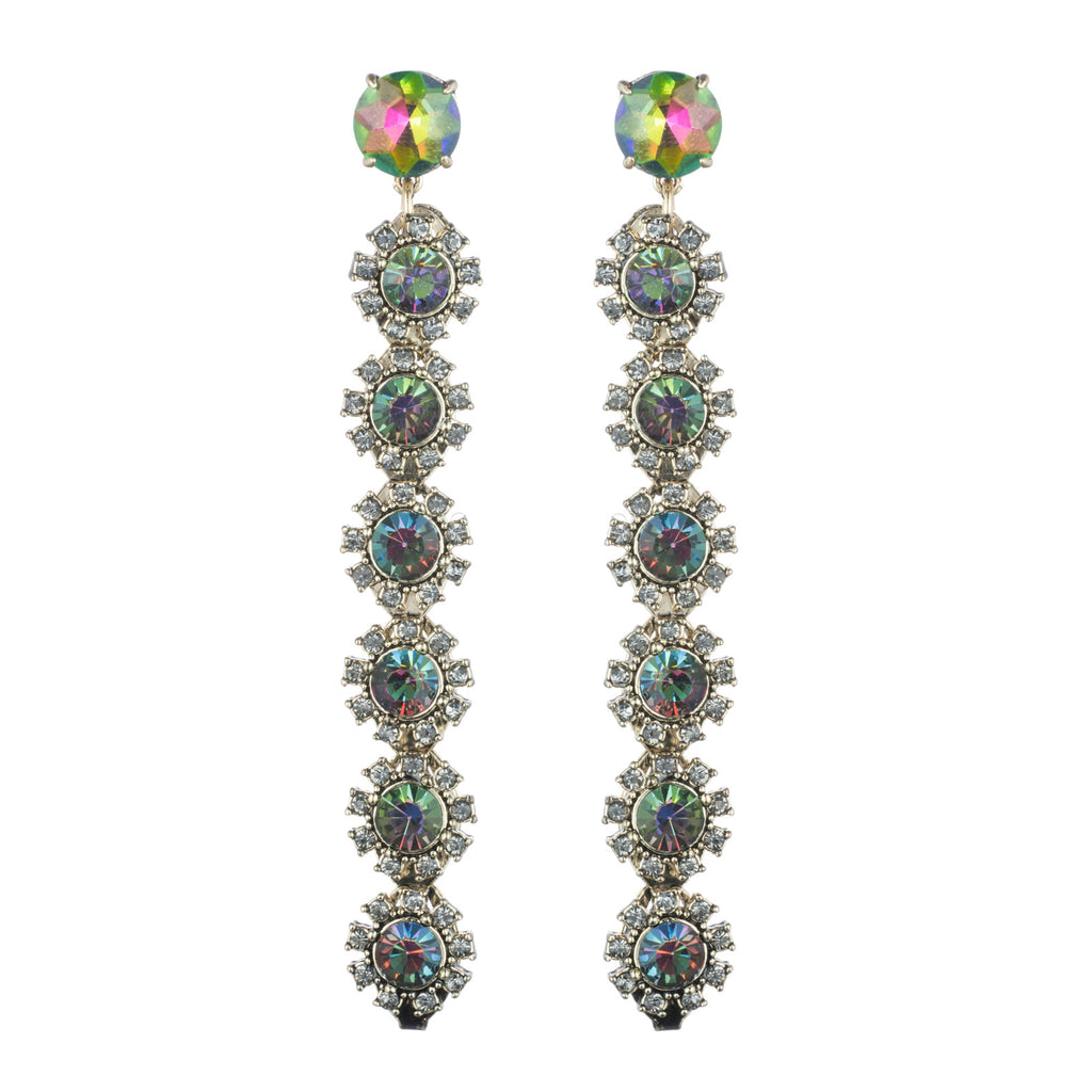 Crystal Peacock Line Earrings