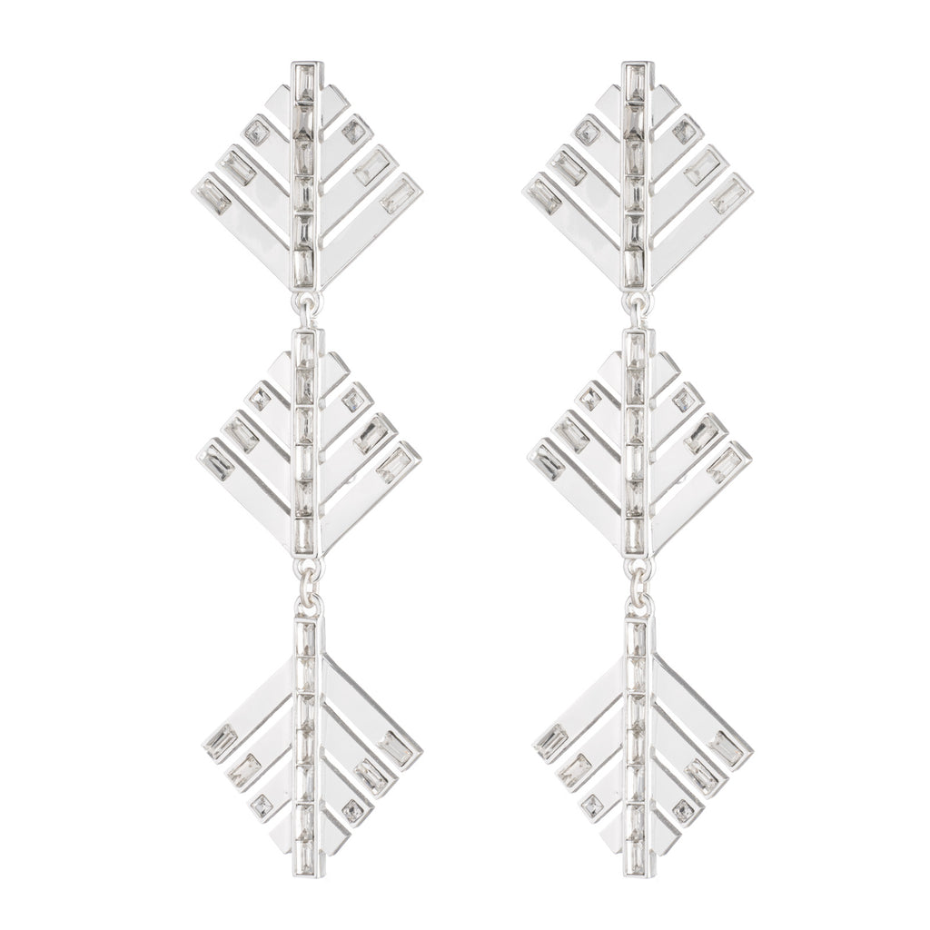 CASCADIA DROP EARRINGS - Silver - Photo
