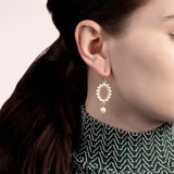 Piazza Short Drop Earring - Pearl
