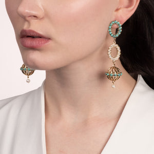 Piazza Long Post Drop Earring