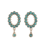 Piazza Short Post Drop Earring - Turquoise
