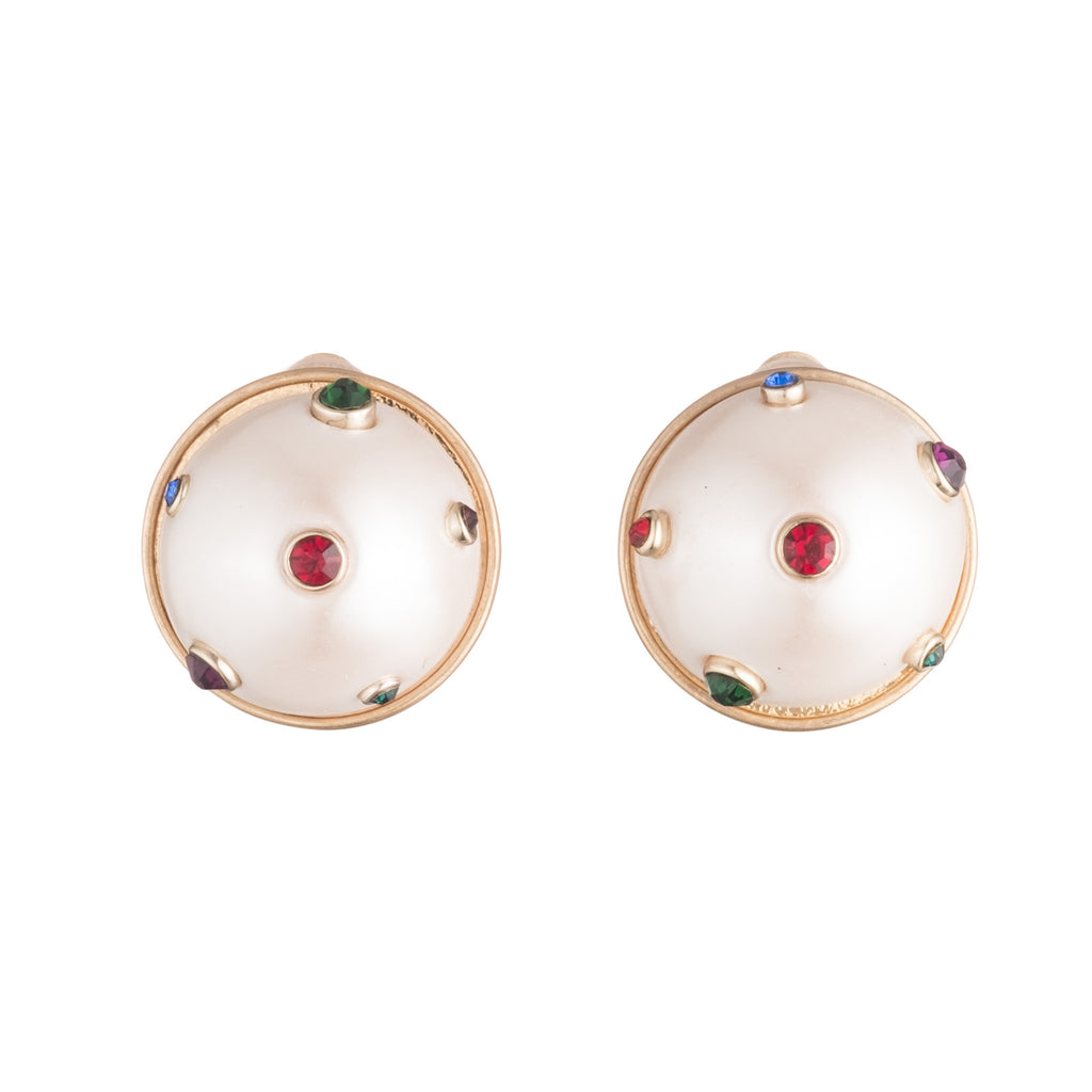 Boboli Button Clip On Earring