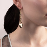Folly Heart & Key Drop Earring