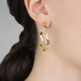 Elixir Wave Hoop Earring - Gold