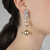 Saturn Statement Clip On Earring