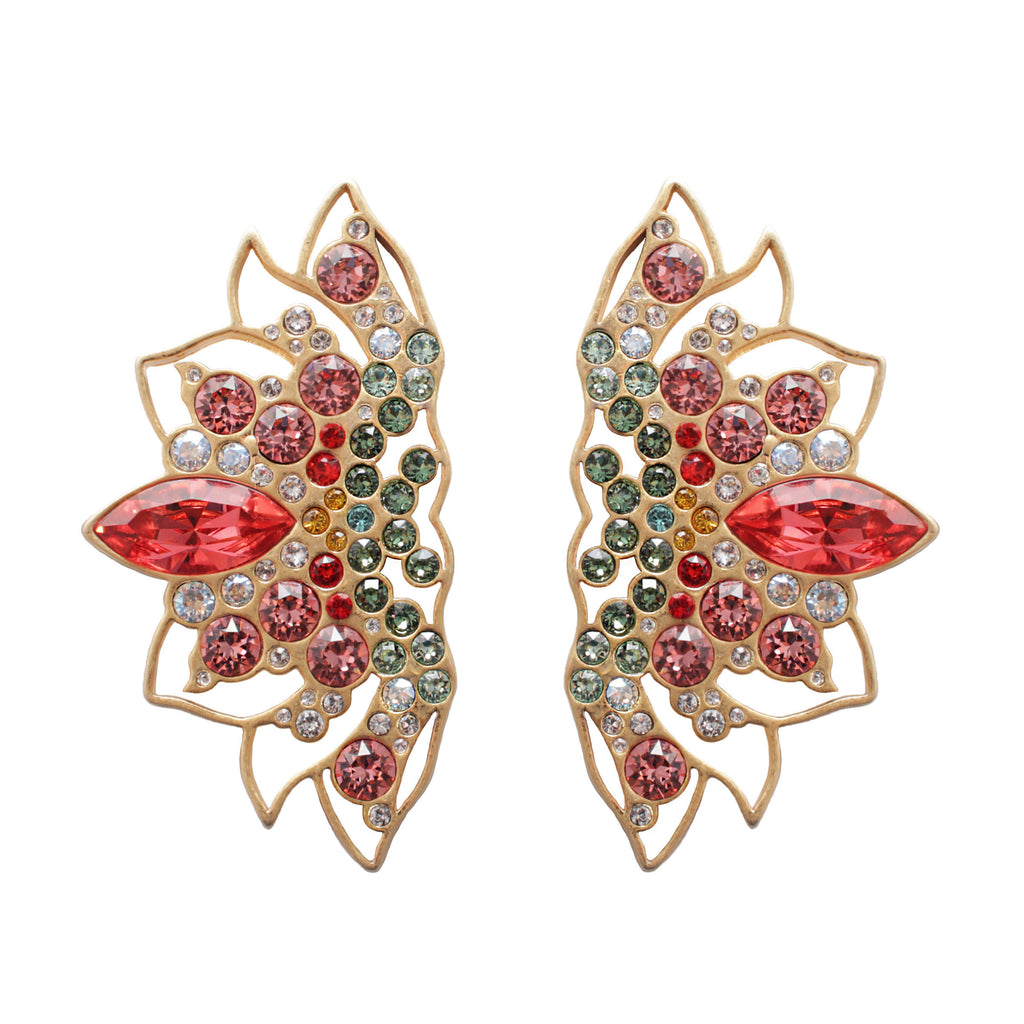Lotus Statement Stud Earring
