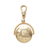 Frost Fine I Love You Spinner Charm - 14k Gold Vermeil
