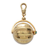 "Frost Fine ""Never Say No"" Spinner Charm - 14k Gold Vermeil"