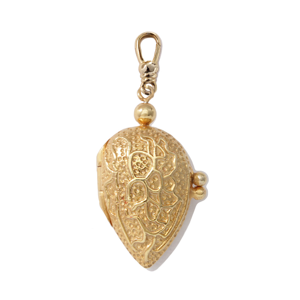 Frost Fine Almond Mechanical Charm - 14k Gold Vermeil