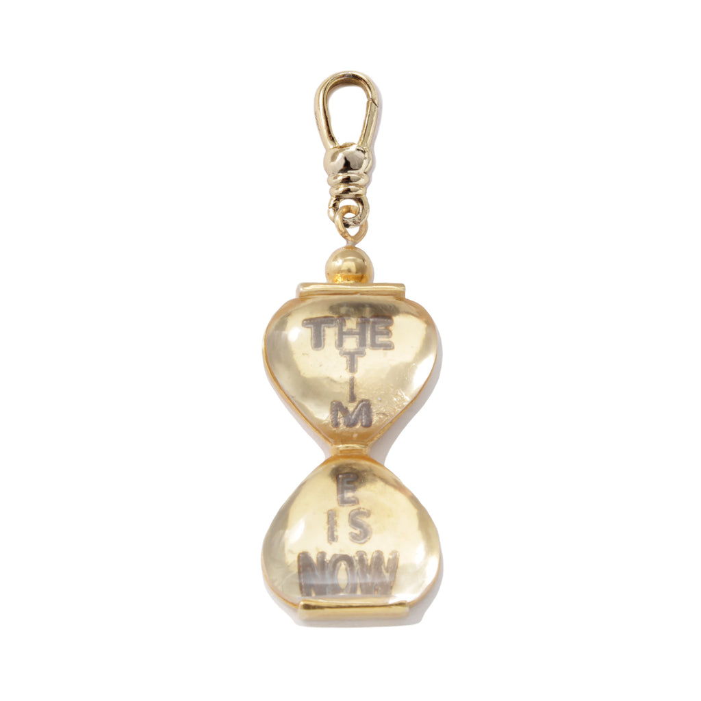 Frost Fine Hourglass Charm - 14k Gold
