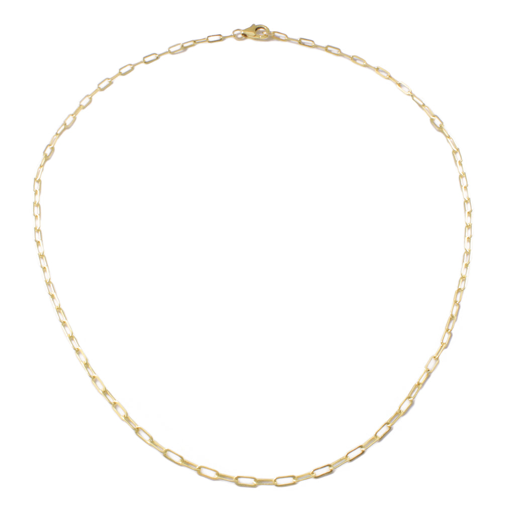 "Frost Fine Rectangle Link Chain 18"" - 14k Gold Filled"