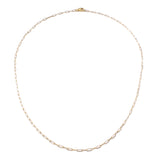 "Frost Fine Rectangle Link Chain 18"" - 14k Gold"