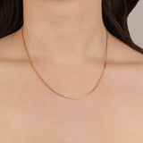 "Frost Fine Box Chain 18"" - 14k Gold Filled"