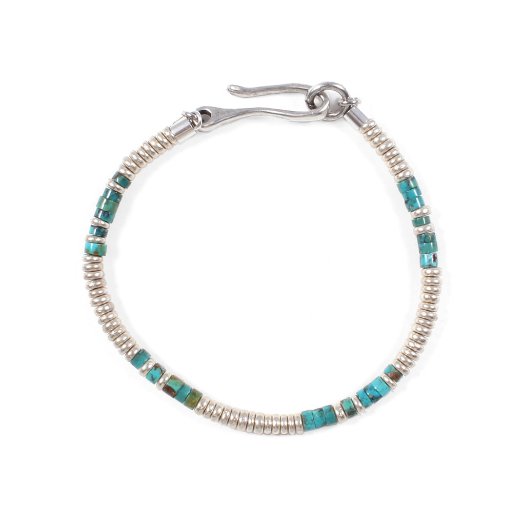 George Frost Turquoise Morse Code Bracelet - Luck