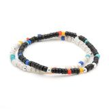 George Frost Essaouira Black And White Bracelet Set
