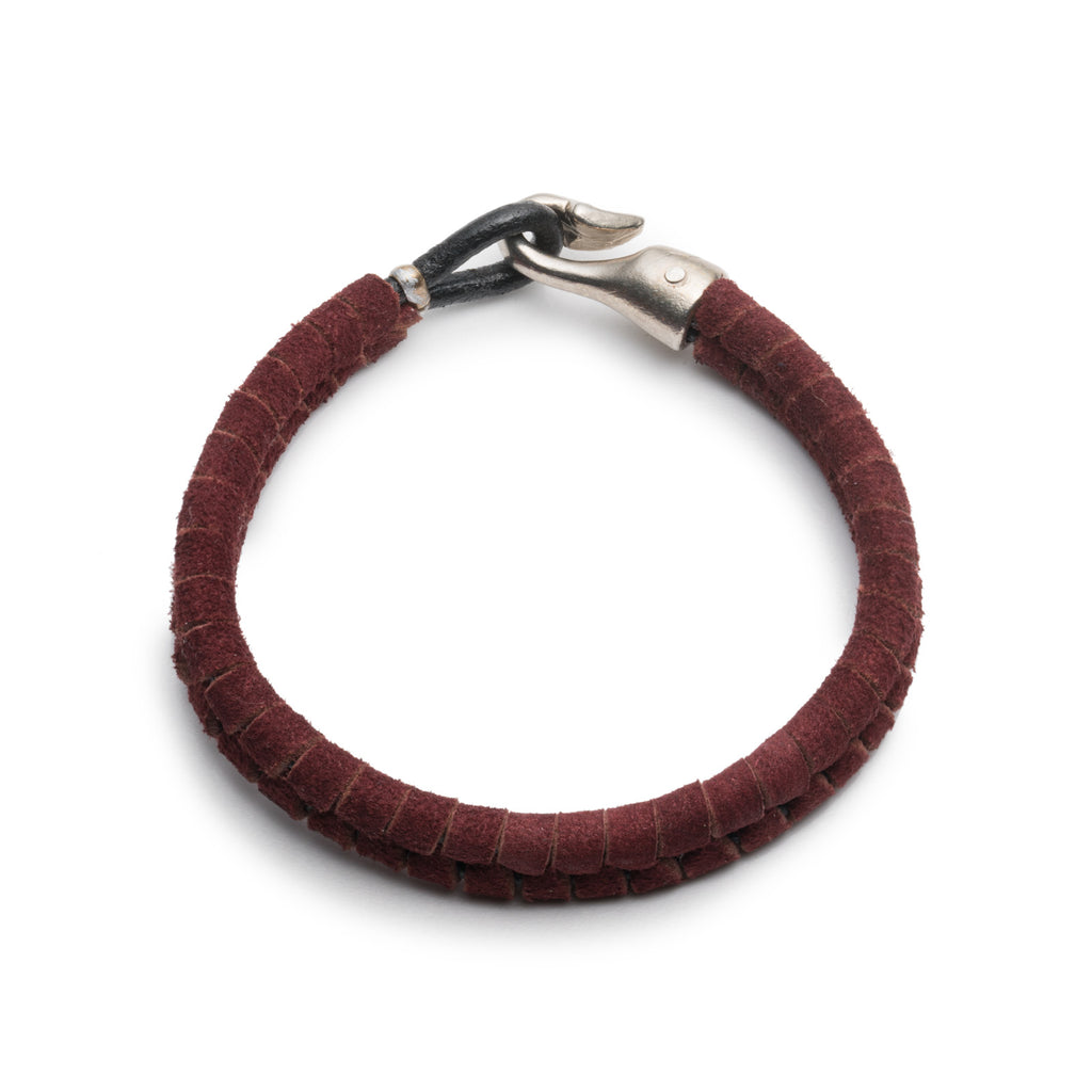 GEORGE FROST MAROON SUEDE HARPOON BRACELET - Photo
