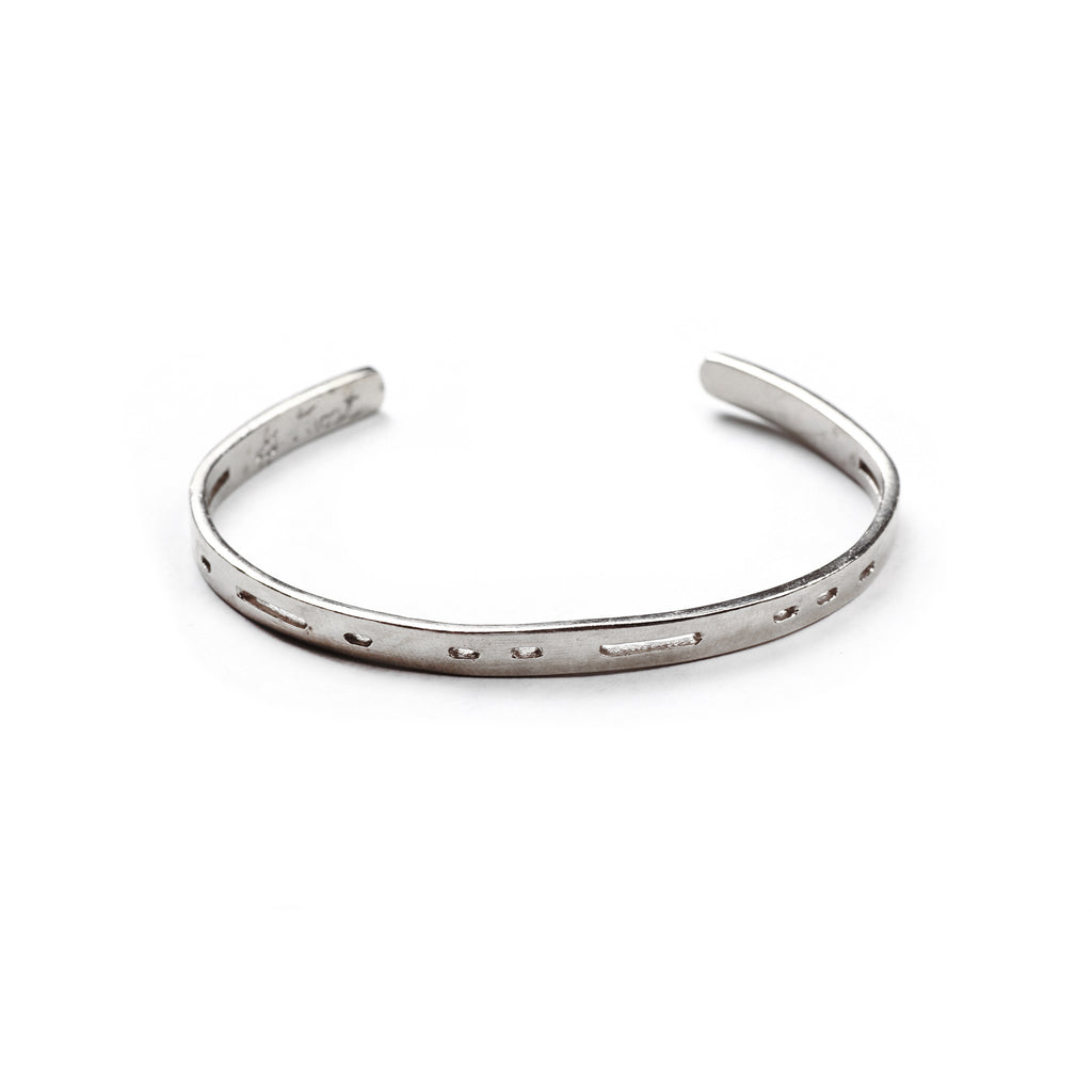George Frost Dot Dash Morse Code Cuff - Trust - Photo