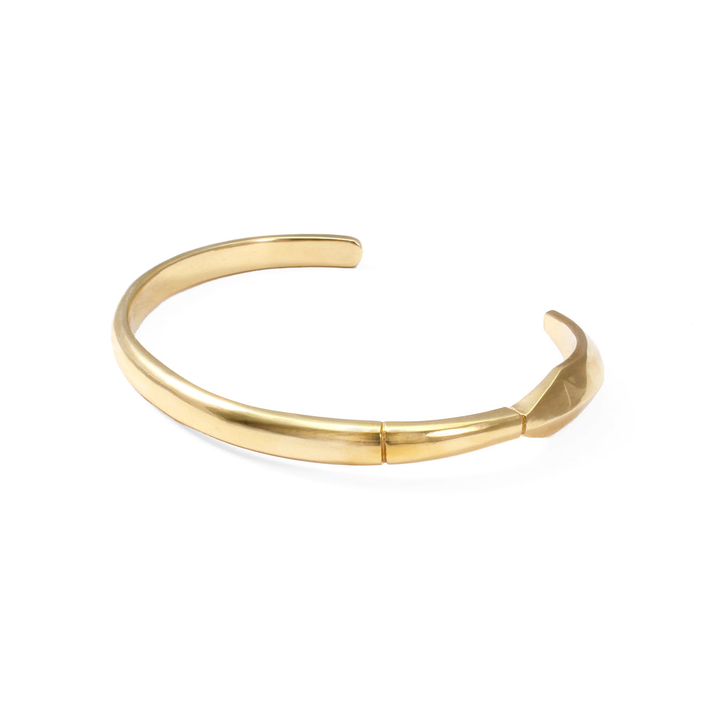 George Frost Fortitude Cuff - 14k Gold Plated with Diamond - Photo