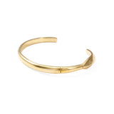 George Frost Fortitude Cuff - 14K Gold Plated With Diamond