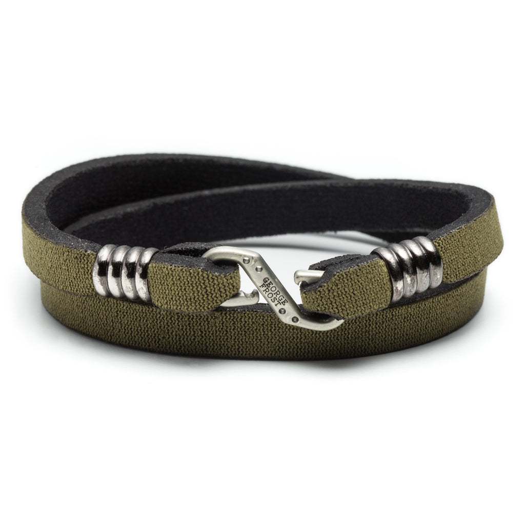 George Frost Neoprene Wrap Bracelet - Olive Green - Photo