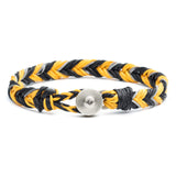 George Frost Woven Reflective Bracelet - Yellow & Black