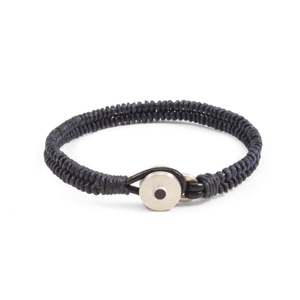George Frost Brave & New Woven Bracelet - Navy - Photo