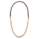 George Frost Nox Horsehair 50/50 Necklace - Brown