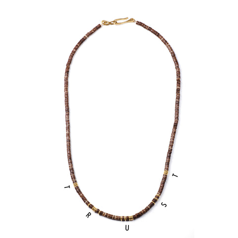 George Frost Morse Code Necklace - Trust