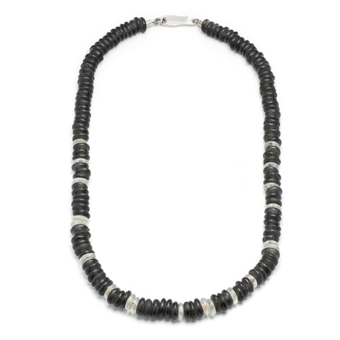 Stealth Morse Glass Bead Necklace