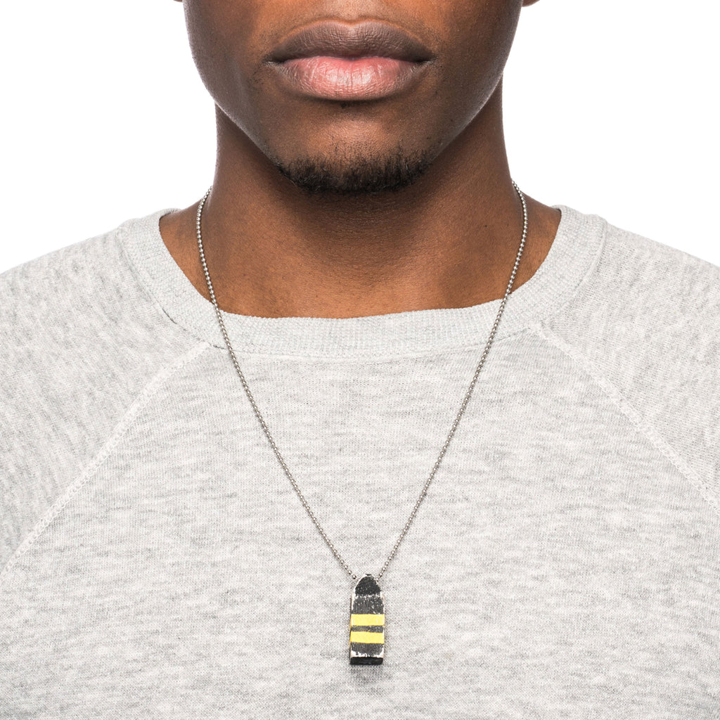 George Frost Buoy Necklace - Black/Yellow - Photo