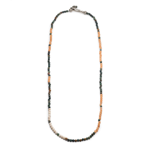 GEORGE FROST MORSE CODE BLOODSTONE & AVENTURINE NECKLACE - POWER