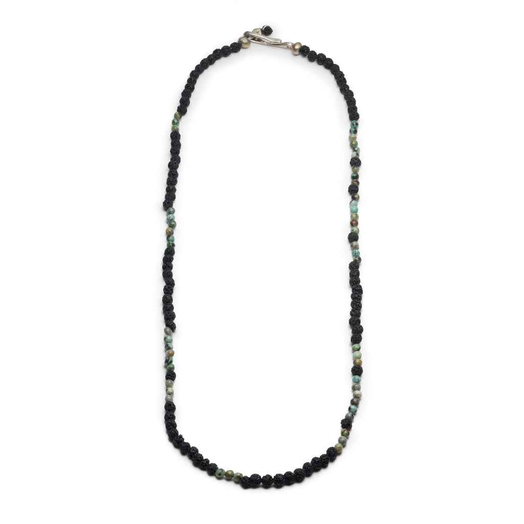 George Frost Morse Code Lava & Turquoise Necklace - Create