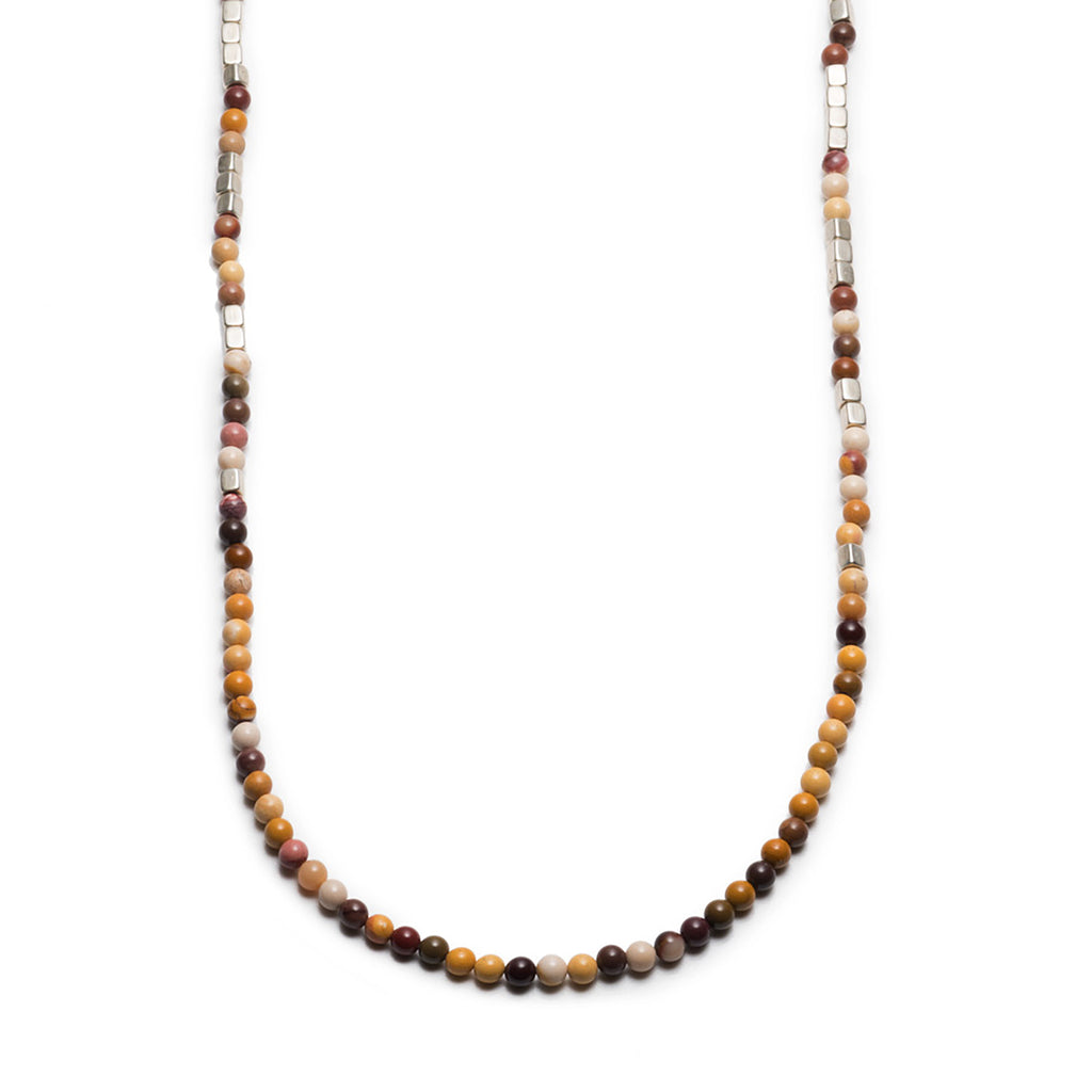 GEORGE FROST MERCHANT SILVER & MOOKAITE NECKLACE - Photo