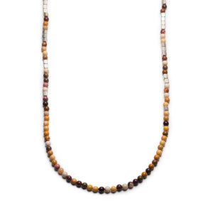 GEORGE FROST MERCHANT SILVER & MOOKAITE NECKLACE - Thumbnail