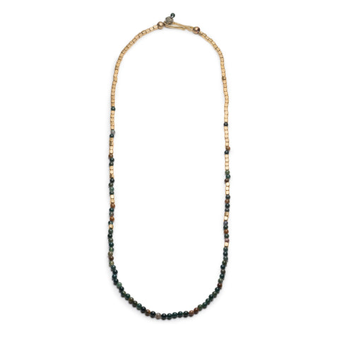 GEORGE FROST MERCHANT GOLD & BLOODSTONE NECKLACE