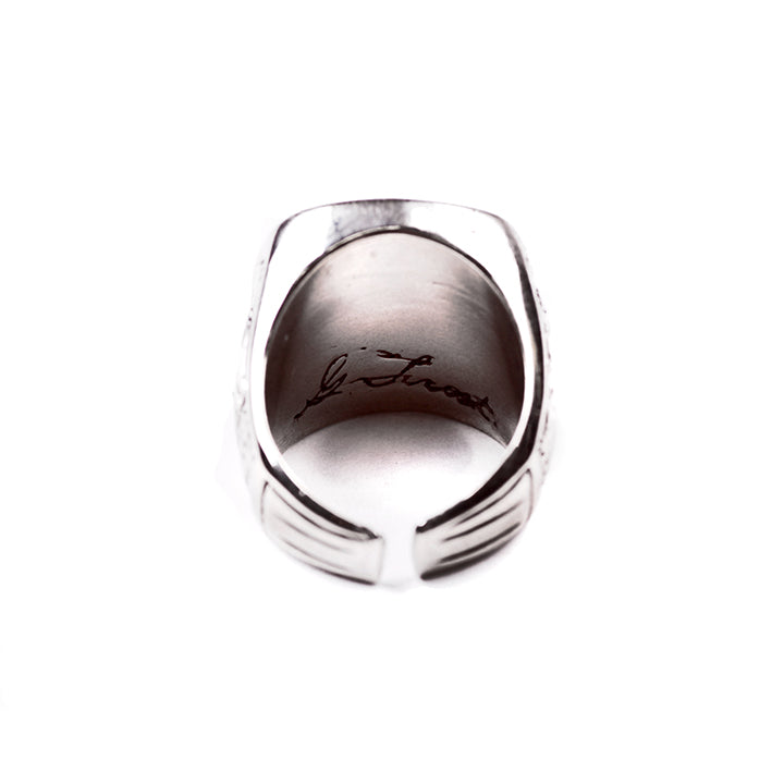 George Frost USN Ring - White Bronze - Photo