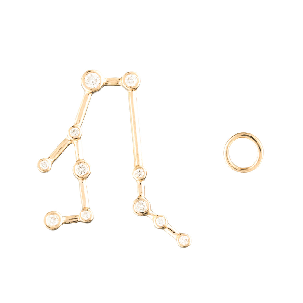 Zodiacs 14k Gemini + Air Stud Set - Photo