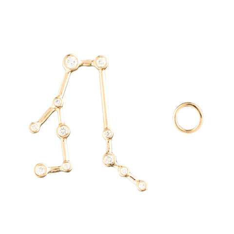 Zodiacs 14k Gemini + Air Stud Set