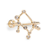 Zodiacs 14k & Diamond Gemini + Air Ring