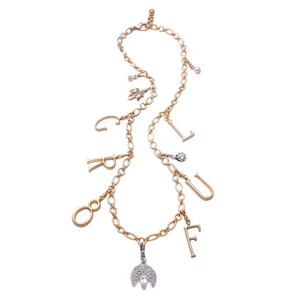 "Plaza Chat ""GR8FUL"" Charm Necklace"