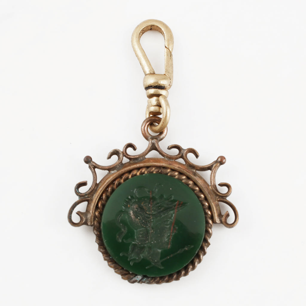 Antique Bloodstone Intaglio Charm