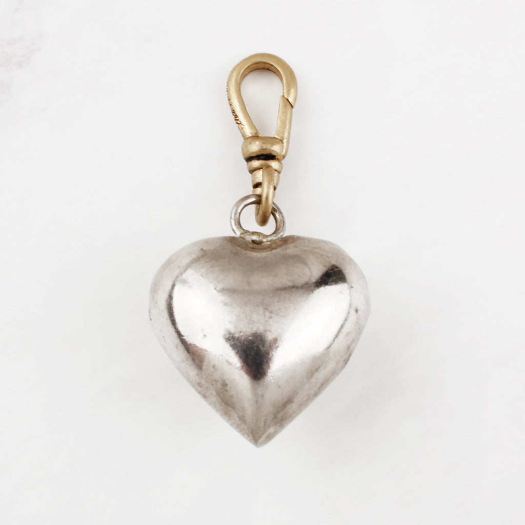 Vintage Sterling Silver Chime Heart