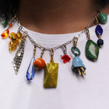 Vintage Readymade Quirky Color Collection Charm Necklace