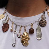 Vintage Readymade Modern Victorian Charm Necklace
