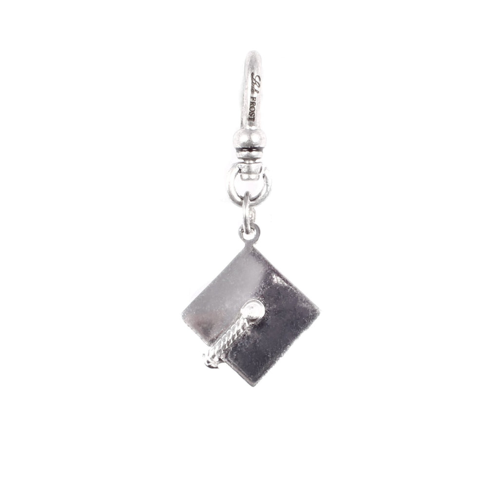 *VINTAGE* Sterling Silver Graduation Hat Charm - Photo
